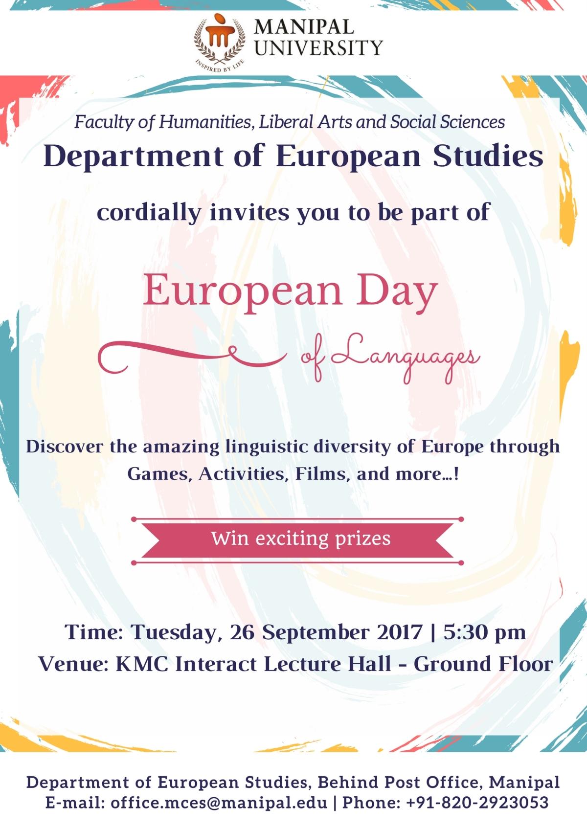 Mailer - European Day of Languages